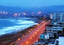 Varun beach in Visakhapatnam, quite early in the morning.